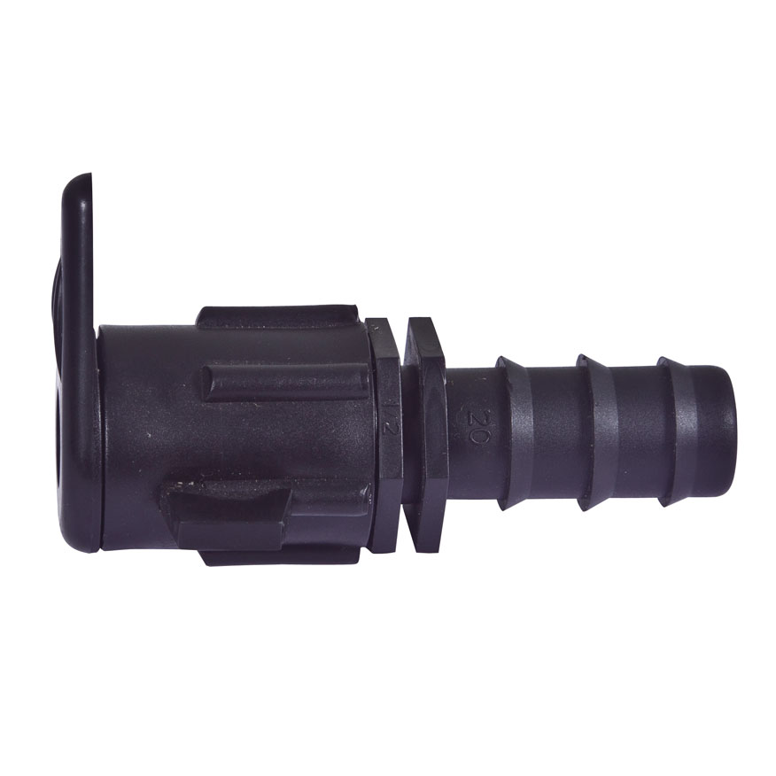 Connector for layflat hose